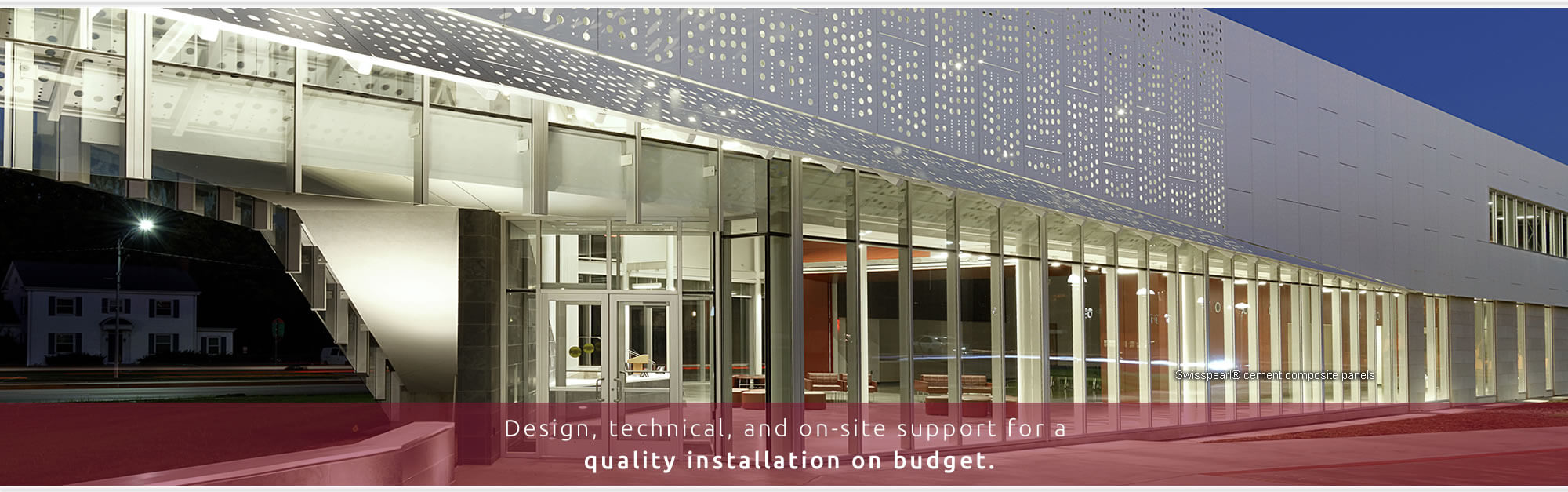 Exterior building panel systems swiss pearl millennium for Exterior architectural elements